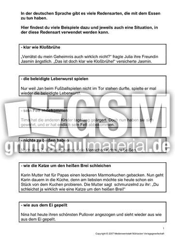 Essen-Redensarten-1-5 - Redensarten ums Essen - Ernährung - Themen ...
