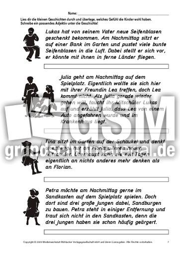 AB-Was-Kinder-fühlen-Geschichten-7 - Arbeitsblätter - Gefühle ...
