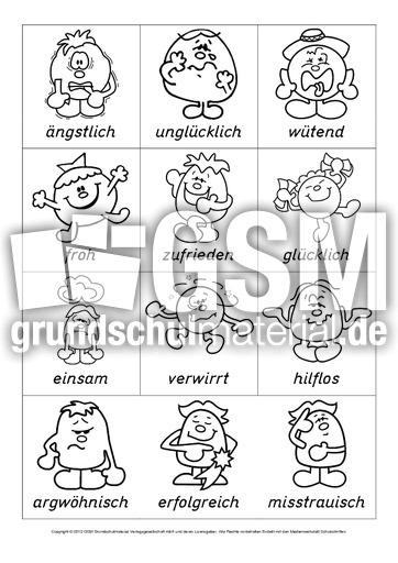 Arbeitsblatt Gefühle Klasse 1 : Ab gefühle mabidu arbeitsblätter die kleinen leute