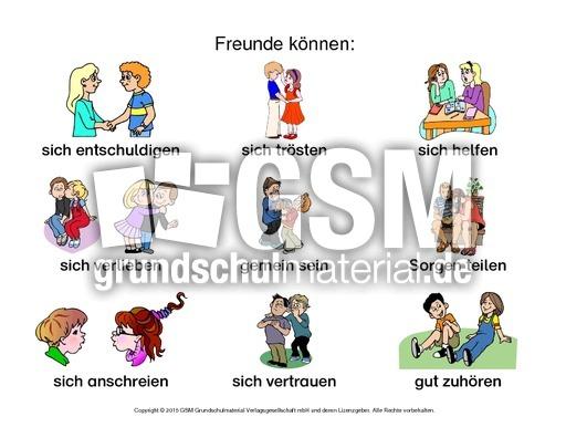 Arbeitsblatt-Freunde können-2 - Freundschaft - Gefühle - Themen und ...