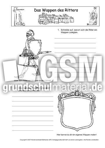AB-Wappen-des-Ritters - Arbeitsblätter - Mittelalter - Ritter ...