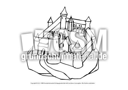 Ausmalbilder Burgen 1 13 Ausmalblätter Mittelalter