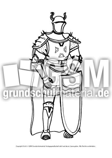 Ausmalbilder Ritter A 1 10 Ausmalblätter Mittelalter Ritterzeit