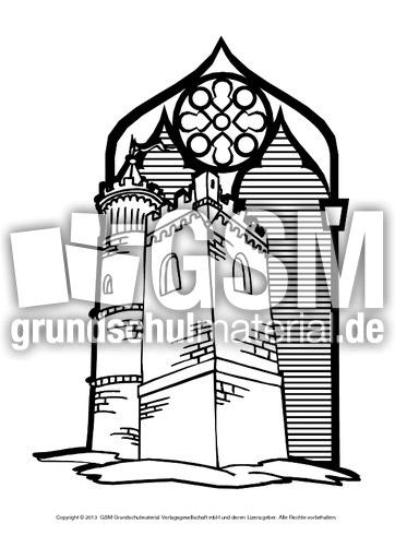 Ausmalbilder Ritter Burg 1 12 Ausmalblätter Mittelalter Ritterzeit