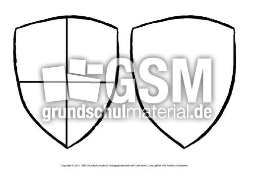Ausmalbilder-Wappen-1-14 - Ausmalblu00e4tter-Mittelalter ...