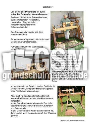 drechsler berufe mittelalter ritter themen und projekte hus klasse 3. Black Bedroom Furniture Sets. Home Design Ideas