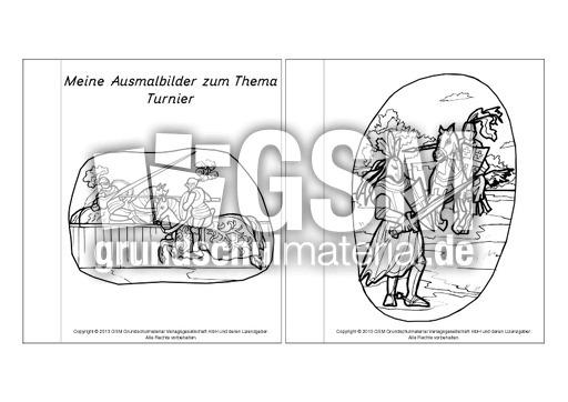 Mini Buch Ausmalbilder Turnier 1 3 Minibücher Ausmalbilder