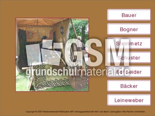 bester Verkauf Neueste Mode beste Qualität Berufe-Bezeichnungen - interaktive Übungen - Mittelalter ...