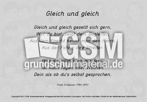 Gleich-und-gleich - Gedichte-Texte - Gedichte-Werkstatt