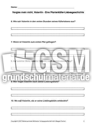 AB-Fragen-zum-Text-2 - Arbeitsblätter - Valentin - Marienkäfer ...