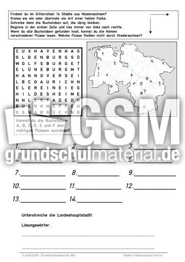 Städte in Niedersachsen - Städte in den Bundesländern