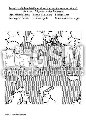 arbeitsblatt vorschule 187 europa l228nder und hauptst228dte