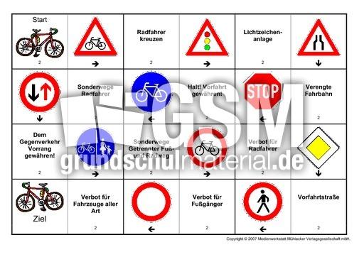 verkehrszeichen lernen 4. klasse - Verkehrszeichen der