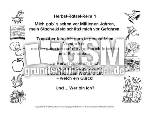 Arbeitsblatt in der Grundschule - Material Bildungsmedien-30plus ...