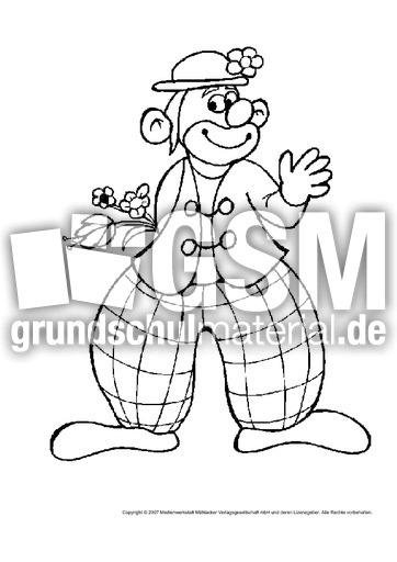 Clown-3 - Clowns - Ausmalbilder - Bildende Kunst ...