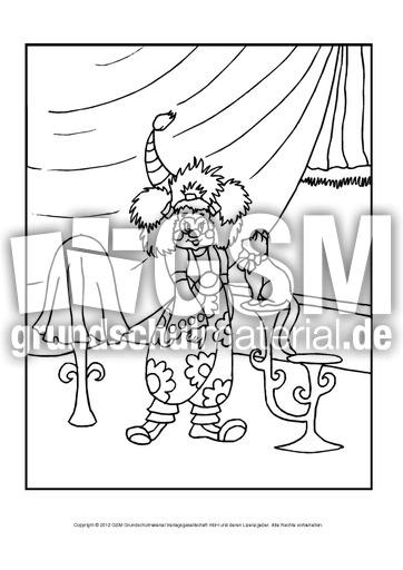 ausmalbildimzirkushoch 11  im zirkus  ausmalbilder