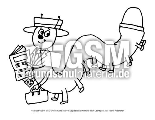 Ausmalbilder-lustige-Tiere-L-1-12 - Lustige-Tierbilder - Tiere zum ...