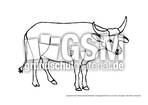 Kuh Tiere Gemischt Tiere Zum Ausmalen Ausmalbilder
