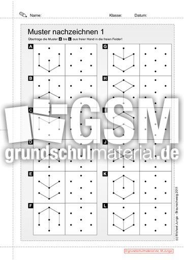 Muster Nachzeichnen 1 Auge Hand Koordination Fördermaterial