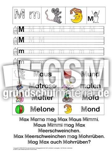Buchstabe A Grundschule Arbeitsblatt : Ab buchstabe üben m buchstaben feinmotorik und