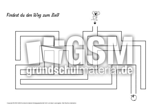 labyrinth 1 4 arbeitsbl tter visuelle konzentration konzentration und wahrnehmung. Black Bedroom Furniture Sets. Home Design Ideas
