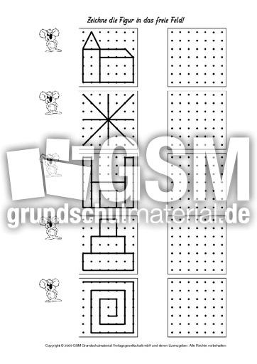 figuren zeichnen 1 6 arbeitsbl tter visuelle wahrnehmung konzentration und wahrnehmung. Black Bedroom Furniture Sets. Home Design Ideas