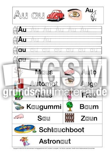 Arbeitsblätter Buchstabe S : Ab buchstabe üben au pdf