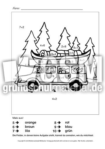 rechnen und malen 13 rechnen und malen zr 10 arbeitsbl tter zahlenraum 10 mathematik. Black Bedroom Furniture Sets. Home Design Ideas