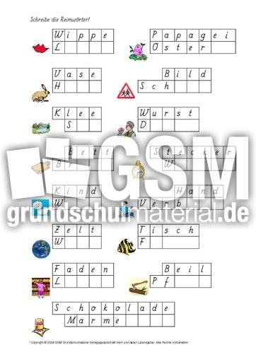 AB-Reimwu00f6rter-ergu00e4nzen-1-19 - Material-Reimwu00f6rter-ab-Kl-2 - Wortschatzarbeit - Fu00f6rderung ...