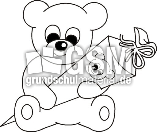 schultüte  teddy sw  illustrationen  material klasse 1