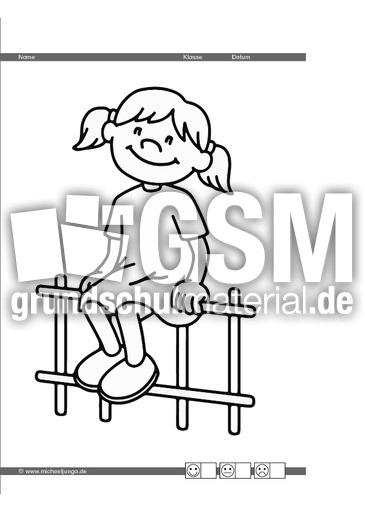 Ausmalbilder Jungen Und Mädchen Auge Hand Koordination Inklusion