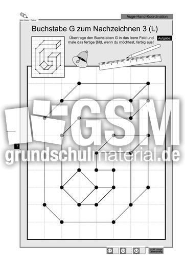 buchstabe g zum nachzeichnen buchstaben nachzeichnen inklusion konkret material klasse 1. Black Bedroom Furniture Sets. Home Design Ideas