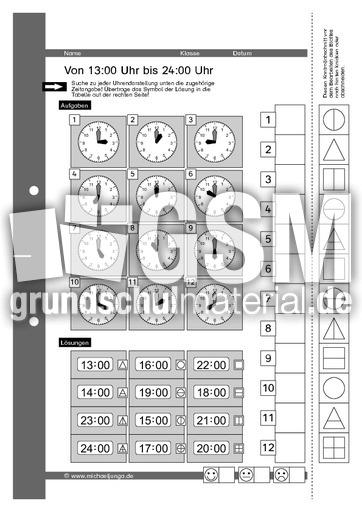 Arbeitsblatt Uhrzeiten Ablesen : Lernpaket uhrzeiten ablesen denktraining inklusion