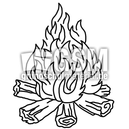 Feuer F J Nomengrafiken Zum Ausmalen Material Klasse