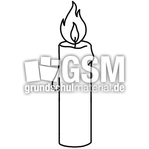 Kerze K P Nomengrafiken Zum Ausmalen Material Klasse 1