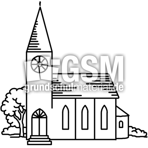 Kirche K P Nomengrafiken Zum Ausmalen Material
