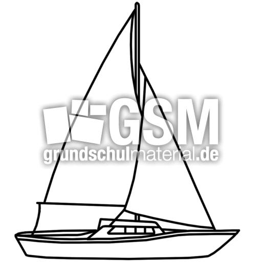segelboot  qs  nomengrafiken zum ausmalen  material