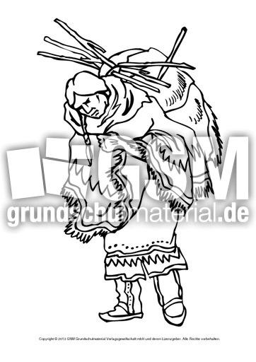 indianer malvorlagen deutsch  zeichnen und färben