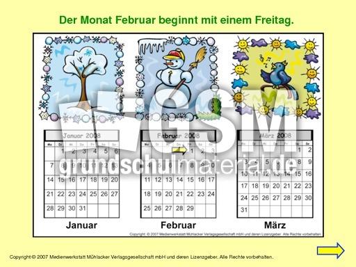 Kalenderu00fcbung-9 - Kalender interaktiv - Kalender 2008 ...