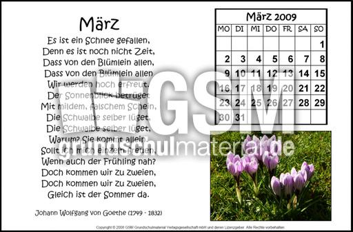 3 Gedicht K März 2009 Gedichtekalender 09 Als Grafik
