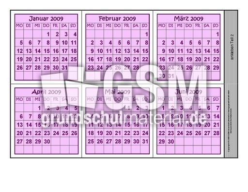 leporellokalender093a leporello 2009 kalender 2009
