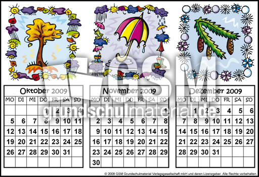 quartalskalender20094 quartalskalender 09 kalender