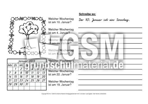 2013-Welcher-Wochentag-ist-am-1-12-B - Arbeitsblätter Kalender ...