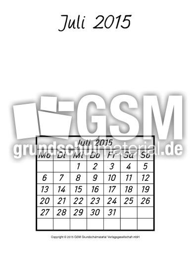 Kalender-2015-Blanko - Kalender 2015 - Kalender - Material ...