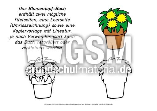 Mini-Buch-Blumentopf - Mini-Bücher-Verschiedenes - Lapbook ...