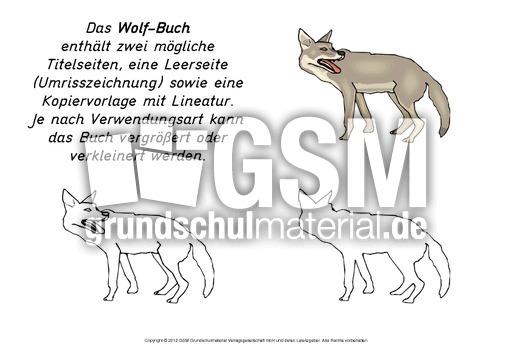 Mini Buch Wolf Minibücher Tiere Lapbook Vorlagen Material
