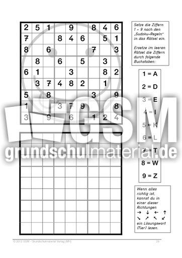 sudokus mathematik in der volksschule