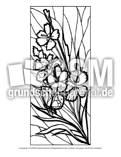 Ausmalbild Blumen Mosaik 13 Ausmalbild Mosaik Blumen