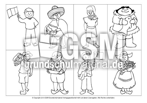 Kinder-zum-Ausmalen-1 - Weltkindertag - Bildende Kunst - Material ...