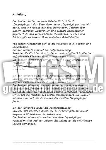 Kreise und Dreiecke_a - Doppelgänger gesucht - Konzentration und ...
